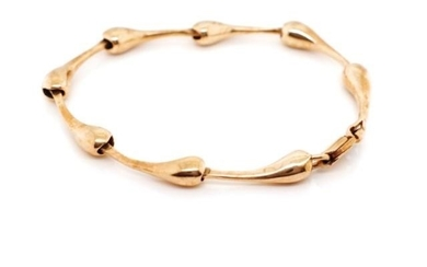 Modernist 9ct rose gold bracelet Marked 9ct to link and 375 ...