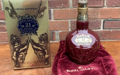 One bottle of blended whisky being 21 Year old Chivas Regal ...