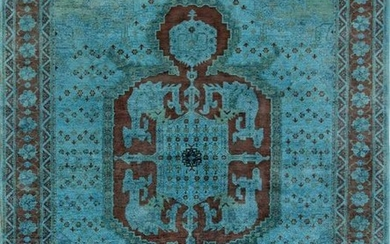 Overdye Collection Hand-Knotted Lamb's Wool Area Rug
