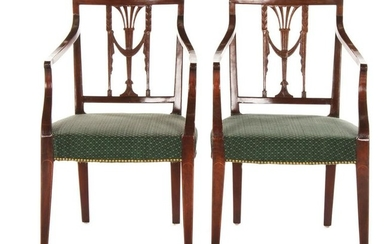 PAIR OF PHILADELPHIA ARMCHAIRS. MAHOGANY. CIRCA 1790.