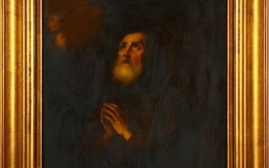 "Painting, ""St. Francis of Paola"" - oil on copper - First half 18th century"