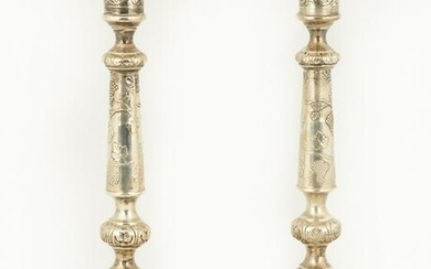 Pair of Imperial Russian/Polish Sterling Silver