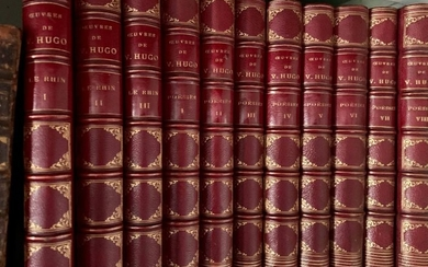 Series of volumes, half-binding in red morocco OEuvres...
