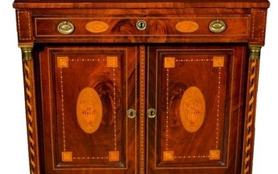 Sideboard, Finely inlaid - Louis XVI Style - Rosewood, Wood - Second half 19th century
