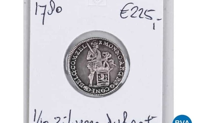 Silver coin the Netherlands 1780.