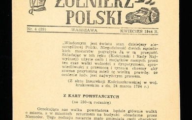 """Soldier of Poland"" Underground WWII Newspaper 1944"