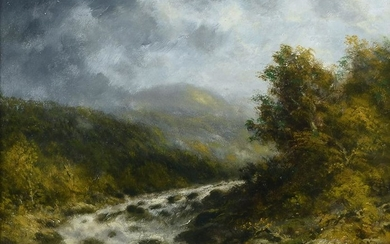 THOMAS B. GRIFFIN BABBLING BROOK PAINTING
