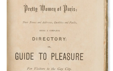 The Pretty Women of Paris their Names and Address Qualities