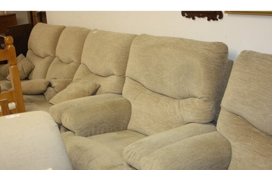 Three-Piece Lounge Suite (Three-Seater Inter-Locking Sofa an...