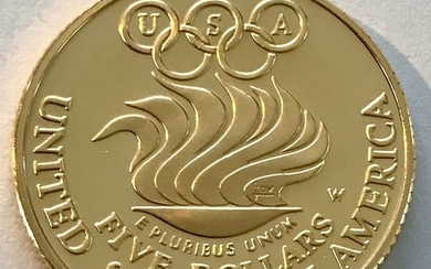 USA - 5 Dollar 1988 - Olympic Summer Games in Seoul - Liberty PP - Gold