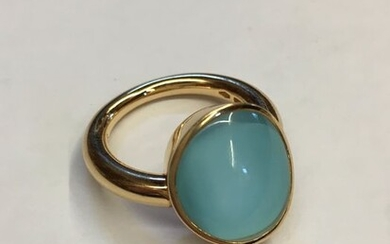Vhernier - 18 kt. Yellow gold - Ring Turquoise