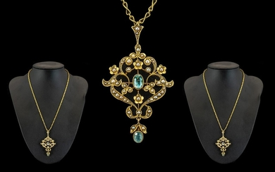 Victorian Period 15ct Gold Superb Quality - Open worked Orna...