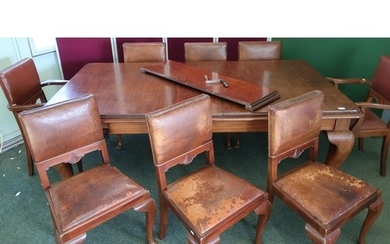 Victorian rectangular wind out extending dining table with t...