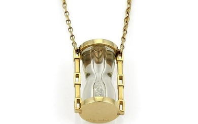 Vintage Sidney Mobell Yellow Gold Hourglass Necklace