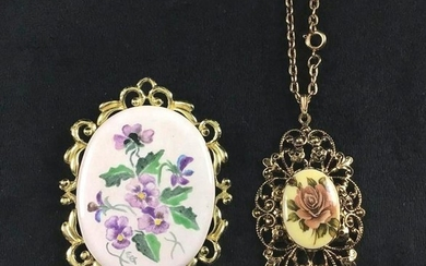 Vintage Victorian Floral Costume Jewelry Brooch