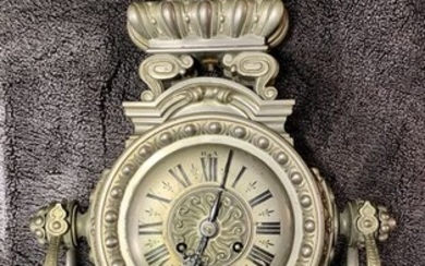 Wall clock - Silvered bronze - Late 18th century