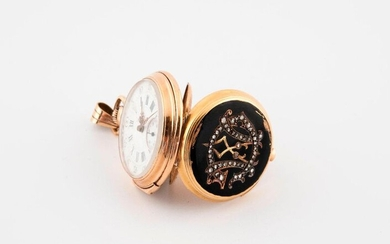 Yellow gold collar watch (750).