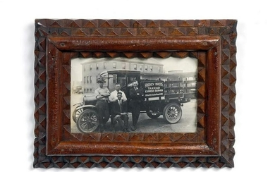 Tramp Art Frame with Photograph