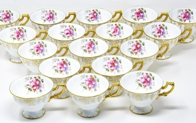 17 Royal Crown Derby Gold Vine Pattern Cups