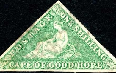 1855-64 GROUP OF THE FOUR VALUES INC. 1/- EMERALD - 1d red, ...