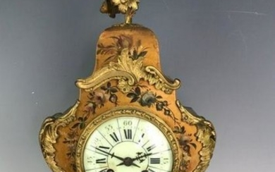 19TH C. FRENCH VERNIS MARTIN CLOCK