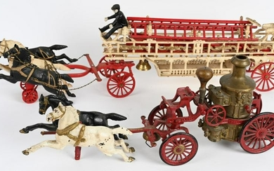 2- HORSE DRAWN FIRE WAGONS, HUBLEY & MORE