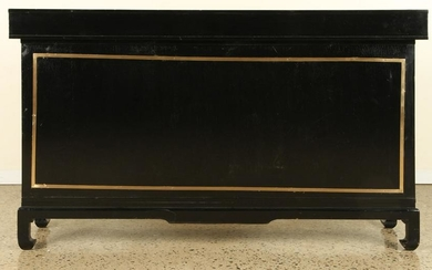 MID CENTURY MODERN EBONIZED BAR COUNTER C.1950