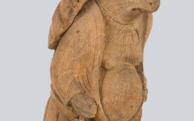 A Carved Bamboo Root Figurine of Tanuki, Japan.