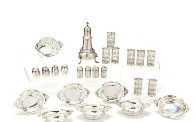 A Collection of Vintage Sterling Silver Dining