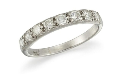 A DIAMOND HALF ETERNITY RING Set with brilliant-cut