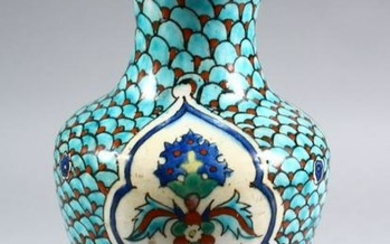 A GOOD EARLY KUTAHIYA POTTERY VASE, decorated with