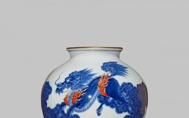 A JAPANESE KORANSHA OVOID VASE TAISHO OR SHOWA PERIOD, 20TH...