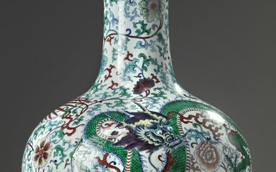 A LARGE CHINESE DOUCAI 'DRAGON AND PHOENIX' VASE