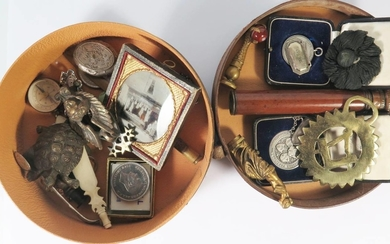 A Selection of Oddments including seals, ambrotype of Butche...