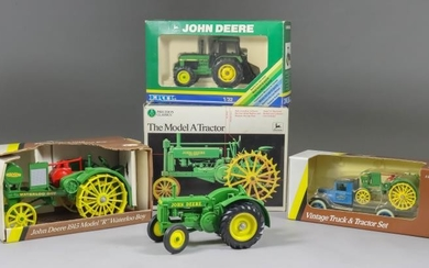 A Small Collection of ERTL Diecast Model Tractors, comprising...