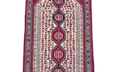 A TRIBAL PERSIAN ABADEH HALL RUNNER. 100% WOOL. DENSE & HARD-WEARING PILE. HAND-KNOTTED VILLAGE WEAVE FROM THE FARS PROVINCE WITH TR...
