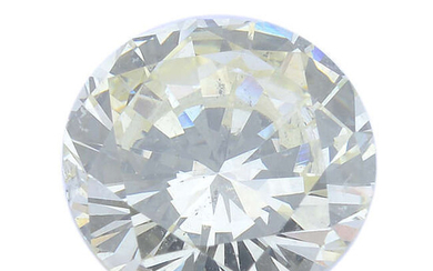 A brilliant-cut 'very light yellow' diamond, weighing 0.51ct, with report, within a security seal.