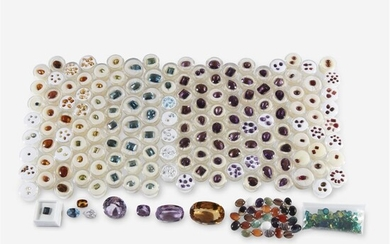 A collection of unmounted gemstones including approximately 191.80 carats...