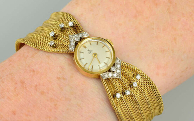 A lady's mid 20th century diamond cocktail watch, by Ebel.