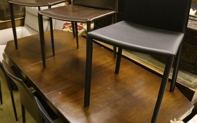 A military style mahogany and brass bound twin pillar dining...