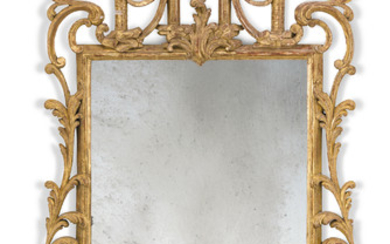 AN ENGLISH GILTWOOD MIRROR, 20TH CENTURY, OF GEORGE III STYLE