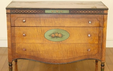 American 1920s Tiger Maple Chest