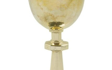 American Sterling Silver Gilt Chalice