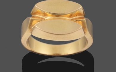 An 18 Carat Gold Ring, by Georg Jensen, of two...