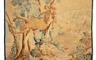 An Aubusson style tapestry panel