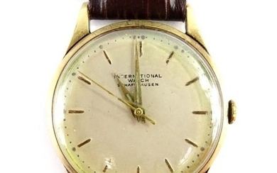 An International Watch Company (IWC) Schaffhausen 9ct gold g...