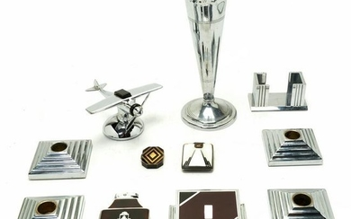 Art Deco Style Desk Accessories and Table Items.