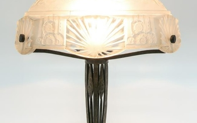 Art Nouveau Signed Muller Freres Table lamp