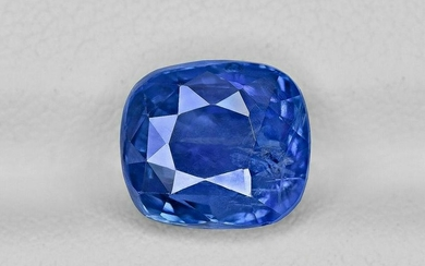 Blue Sapphire - 5.04 ct - Sri Lanka - Cushion - with