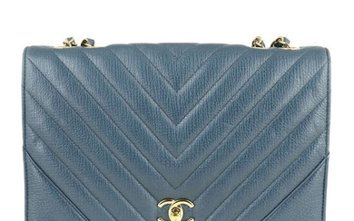 CHANEL - a Chevron Quilted Flap handbag.